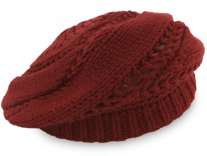 Preston & york diagonal-stitch beret