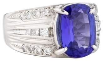 Ring Platinum Tanzanite & Diamond violet Platinum Tanzanite & Diamond