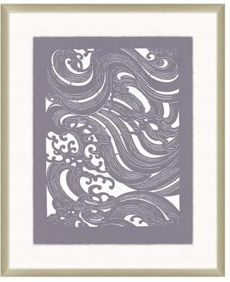 Pottery Barn Weaving Wave Framed Paper Print
