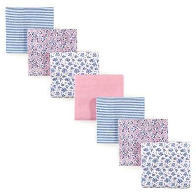 Hudson Baby 7-Pack Floral Flannel Receiving Blankets