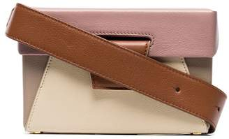 Yuzefi Brown, Rose and Cream Lola Leather Belt Bag