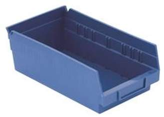Quantum Storage Systems PLASTIC BIN BOXES 6 IN. X 12 IN., BLUE