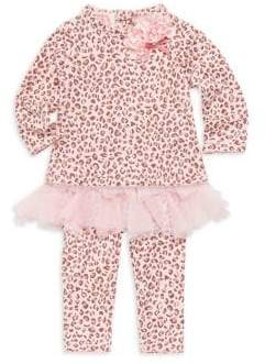 Kate Mack Baby Girl's Two-Piece Leopard Print Set