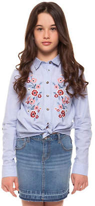 Dex Embroidered Cotton Collared Shirt