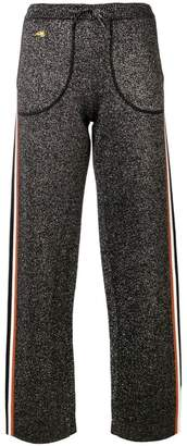 Bella Freud lurex knitted track pants