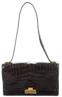 Hermes Vintage Crocodile Shoulder Bag