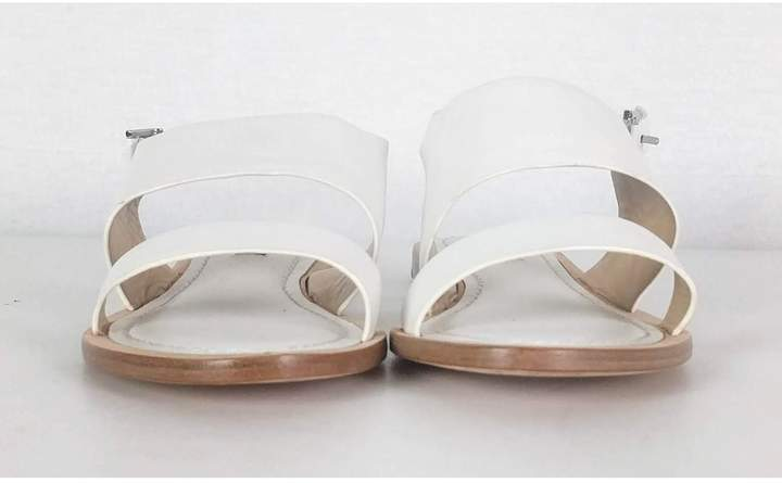 Lafayette 148 Lafayette- White Leather Sandals Sz 7