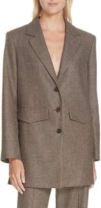 Nanushka Demi Oversize Houndstooth Jacket