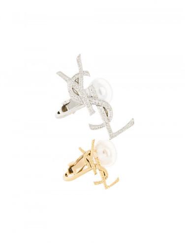 Saint LaurentSaint Laurent pair of YSLmonogram logo earrings