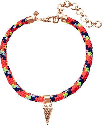 Rebecca Minkoff Climbing Rope with Charm Drop Choker Necklace