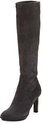 Aquatalia Rumbah Weatherproof Suede Knee Boot $750 thestylecure.com