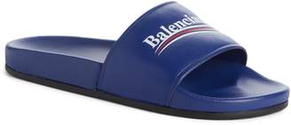 Balenciaga Retro Logo Slide Sandal