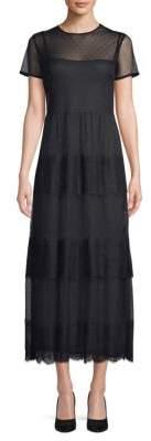 RED Valentino Illusion A-Line Midi Dress