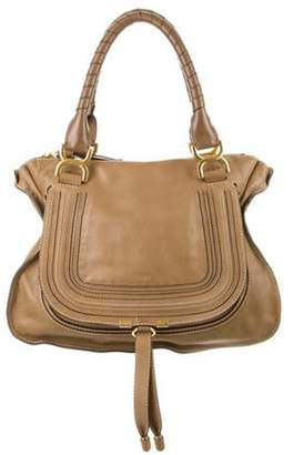 Chloé Chloé Medium Marcie Satchel Tan Chloé Medium Marcie Satchel