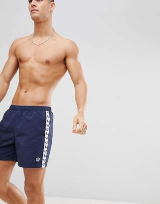 Fred Perry Sports Authentic taped swimshorts in navy
