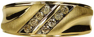 MODERN BRIDE Mens 1/3 CT. T.W. Champagne Diamond 10K Yellow Gold Ring