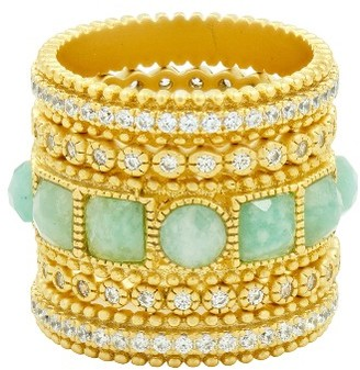 Women's Freida Rothman Amazonian Allure Set Of 5 Band Rings $325 thestylecure.com