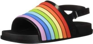 Mini Melissa Girls' Mini Beach Slide Rainbow Flat Sandal