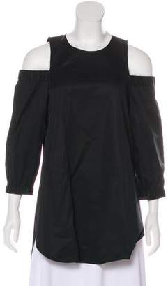 Tibi Cutout Off-The-Shoulder Tunic