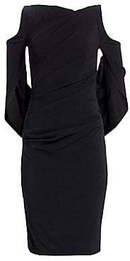 Talbot Runhof Women's Drape-Back Sheath Dress