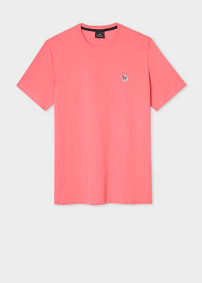 Paul Smith Men's Pink Organic-Cotton Zebra Logo T-Shirt