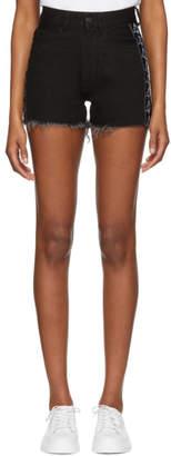 Marcelo Burlon County of Milan Black Kappa Editon Denim Shorts