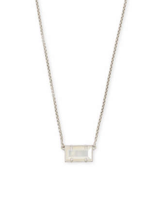Kendra Scott Pattie Silver Pendant Necklace In Multicolor Drusy