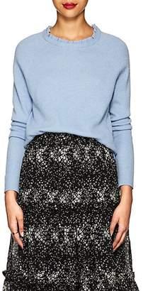 Co Women's Ruffle-Neck Wool-Cashmere Sweater - Blue