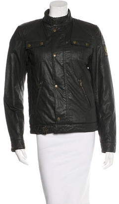 Belstaff Long Sleeve Zip-Up Jacket w/ Tags $295 thestylecure.com