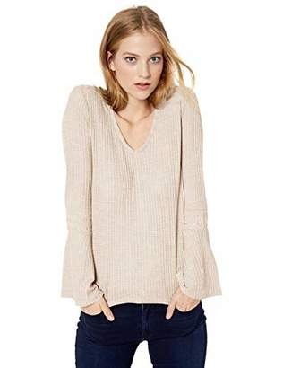Lucky Brand Women's V-Neck Bell Sleeve Thermal Top