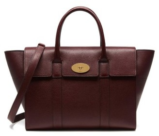 Mulberry Bayswater Calfskin Leather Satchel - Burgundy $1,450 thestylecure.com