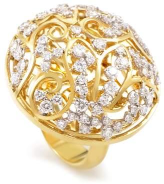Fratelli Lani 18K Yellow Gold Diamond Lattice Ring