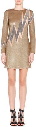 Emilio Pucci Beaded Lightning Bolt Mini Dress $4,295 thestylecure.com