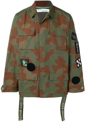 Off-White camouflage print shirt jacket