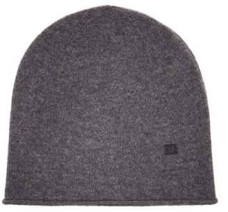Acne Studios Pansy S Face Wool Beanie Hat - Womens - Grey