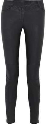 M Missoni Leather Skinny Pants