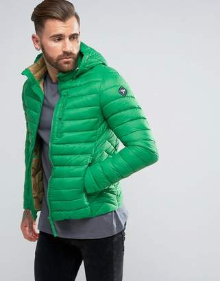 Puffa Short Padded Jacket With Hood