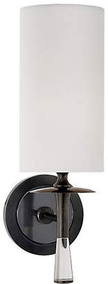 AERIN Drunmore Single Sconce - Bronze/Clear