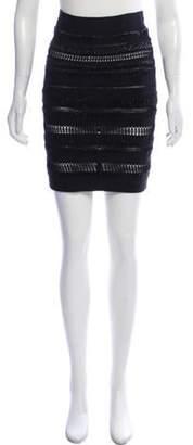 Herve Leger Embellished Bandage Skirt Black Embellished Bandage Skirt