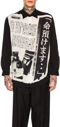 Yohji Yamamoto Entrust Life Shirt in Black | FWRD