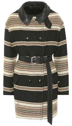Isabel Marant Hilda striped wool-blend coat