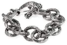 King Baby Studio Sterling Silver Engraved Single Link Toggle Bracelet