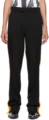 Calvin Klein Black Side Snaps Wool Trouser