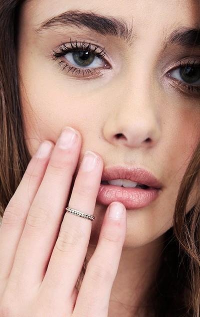 Sunahara Beaded Mid Knuckle Ring