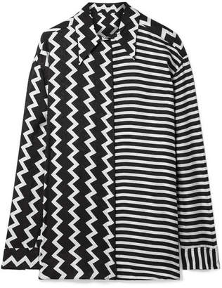 Stella McCartney Oversized Printed Silk-moire Shirt - Black
