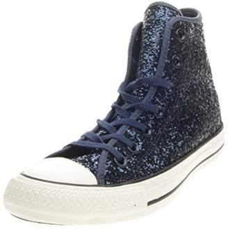 Converse Women's All Star Hi Tex Glitter High Trainers Blue Size: 5