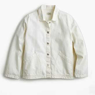 J.Crew Denim swing jacket in white
