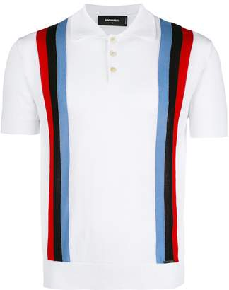 DSQUARED2 striped polo shirt