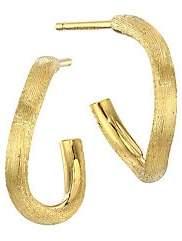 Marco Bicego Women's Delicati 18K Yellow Gold J Hoop Earrings