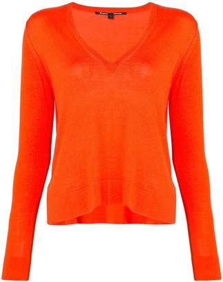 Fitted Silk-Cotton Blend Sweater